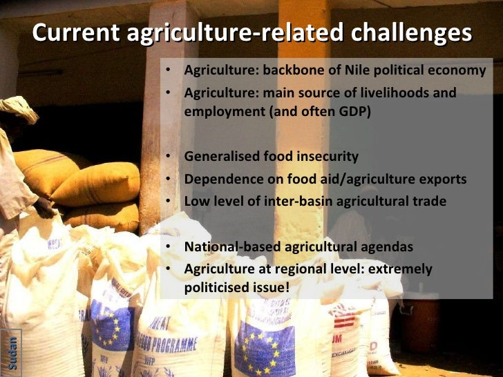 Current agriculture-related challenges <ul><li>Agriculture: backbone of Nile political economy </li></ul><ul><li>Agricultu...