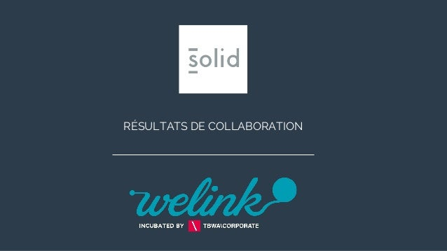 RÉSULTATS DE COLLABORATION