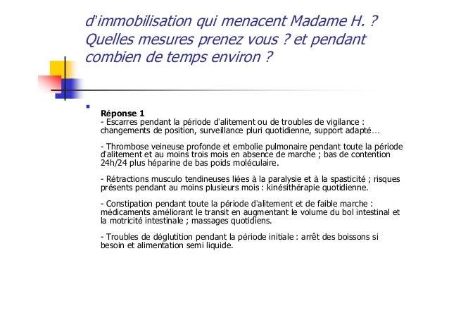 Cas cliniques module 4 2008 - Combien de temps porter bas de contention ...