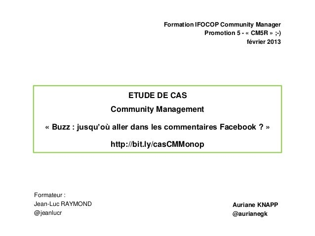 Formation IFOCOP Community Manager                                              Promotion 5 - « CM5R » ;-)                ...