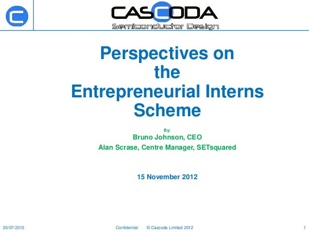 Perspectives on                      the             Entrepreneurial Interns                    Scheme                    ...