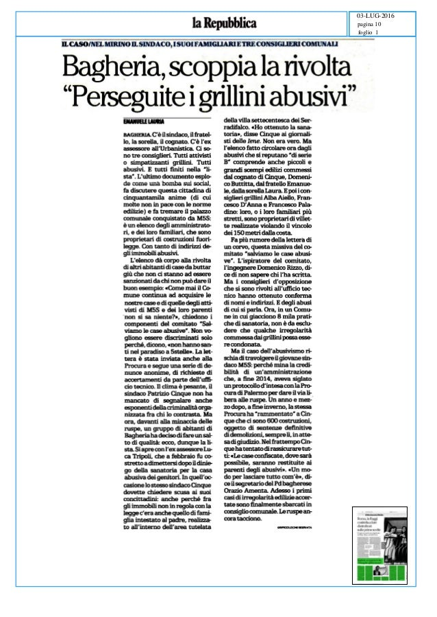 Case abusive m5s bagheria for Case bagheria