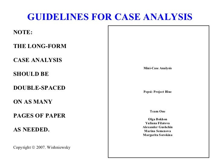Case Analysis Guide Long Format Mgmt4650