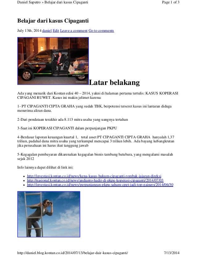 Belajar dari kasus Cipaganti July 13th, 2014 daniel Edit Leave a comment Go to comments Latar belakang Ada yang menarik da...