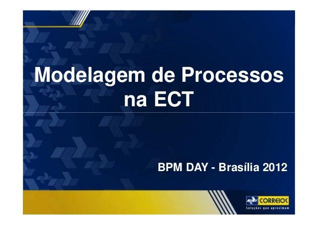 BPM DAY Modelagem de Processos na ECT BPM DAY - Brasília 2012