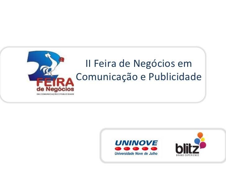 II Feira de Negócios em Comunicação e Publicidade