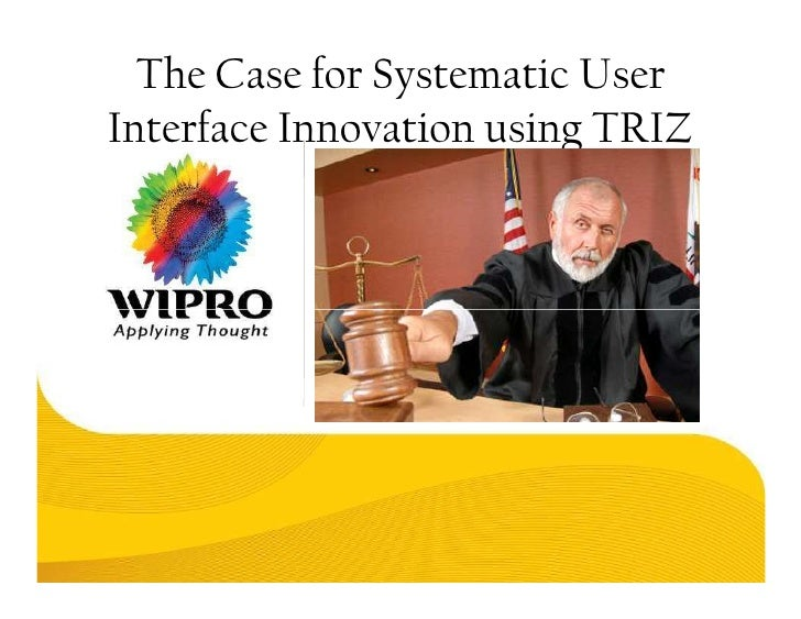 The Case for Systematic User Interface Innovation using TRIZ