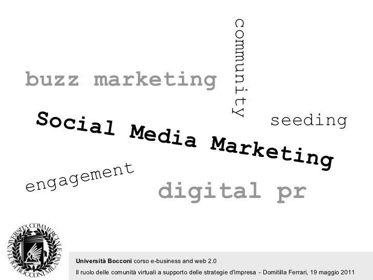 community Università Bocconi  corso e-business and web 2.0   Il ruolo delle comunità virtuali a supporto delle strategie d...