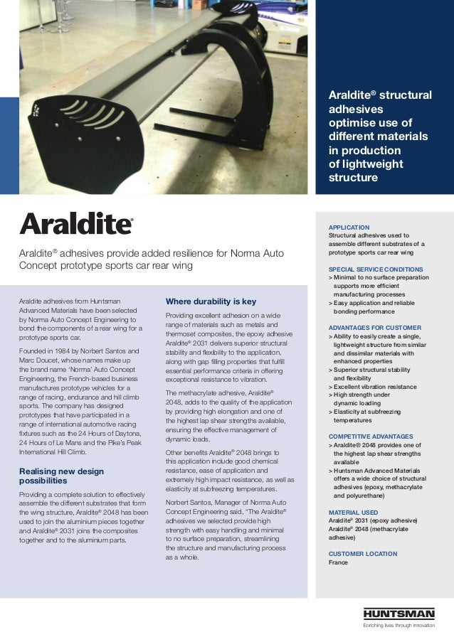 Araldite® structural adhesives optimise use of different materials in production of lightweight structure Araldite adhesiv...
