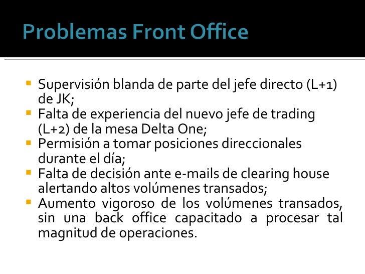 <ul><li>Supervisión blanda de parte del jefe directo (L+1) de JK; </li></ul><ul><li>Falta de experiencia del nuevo jefe de...