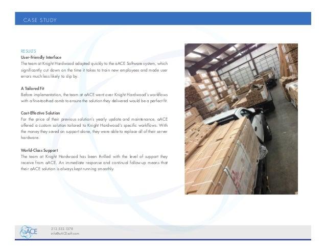 Case Studies Knight Hardwood Flooring Sap