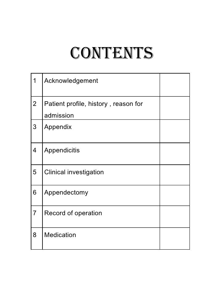 clinical case study format