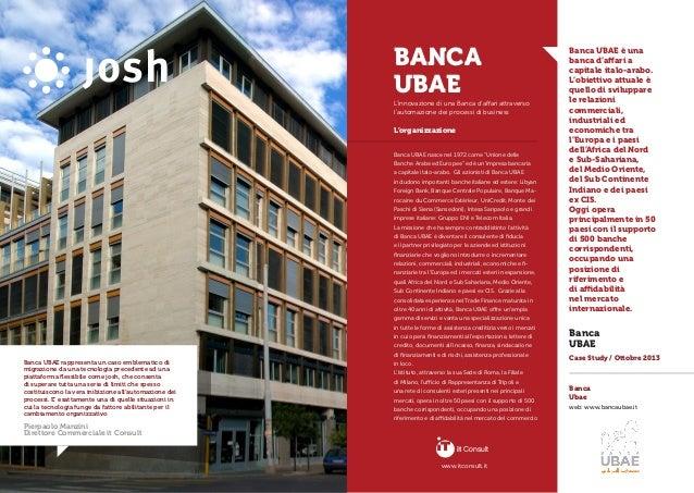 """L'organizzazione Banca UBAE nasce nel 1972 come """"Unione delle Banche Arabe ed Europee"""" ed è un'impresa bancaria a capitale..."""