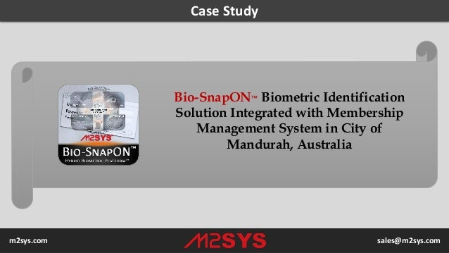 Case Study Bio-SnapON™ Biometric Identification Solution Integrated with Membership Management System in City of Mandurah,...