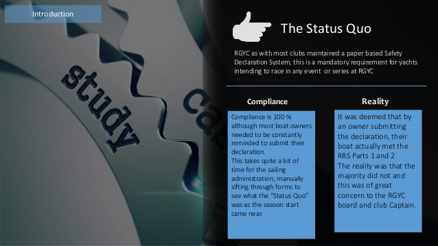 Case study neas rgyc yacht club a brief description malcolm eaton march 2016 2 free powerpoint templates toneelgroepblik Images
