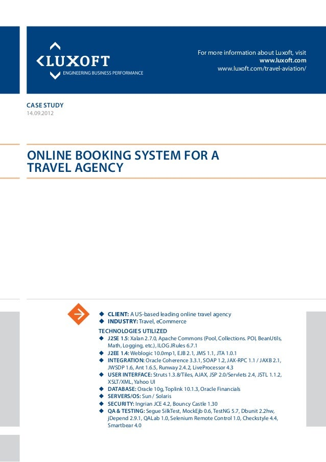 For more information about Luxoft, visitwww.luxoft.comwww.luxoft.com/travel-aviation/case studyOnline Booking System for a...