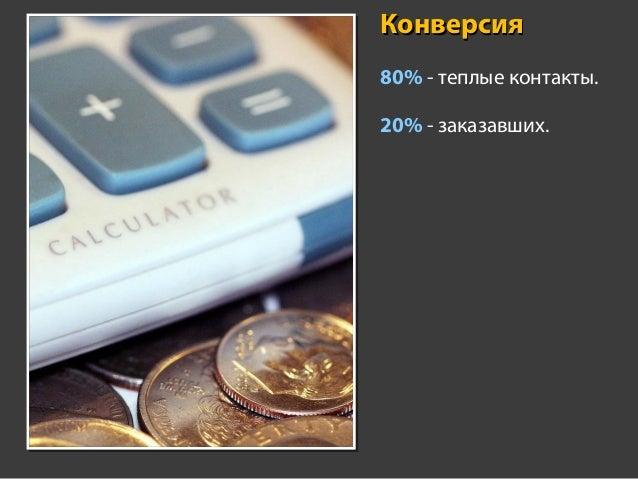 Профит 800.000 руб. • 50-100 тыс. руб. – средний чек. • 20-25% – маржа. • 10-25 тыс. руб. – профит на сделке.