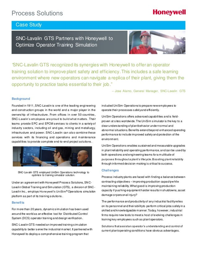 Case study - SNC-Lavalin GTS partners with Honeywell to