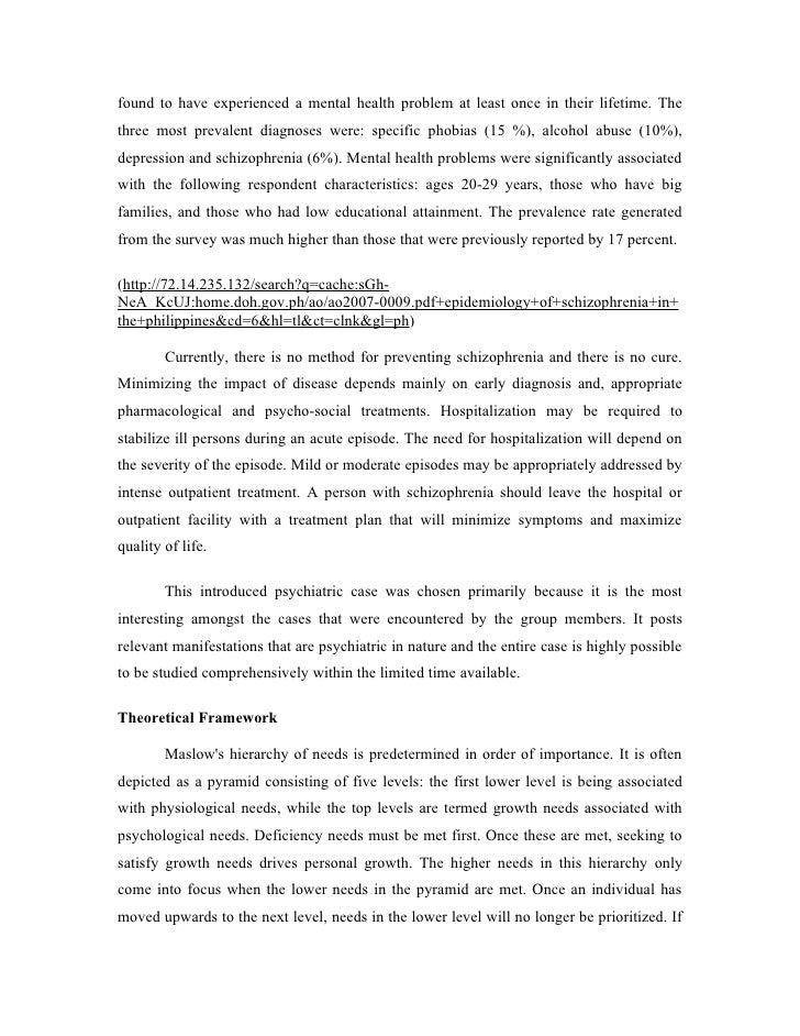 characteristics of schizophrenia
