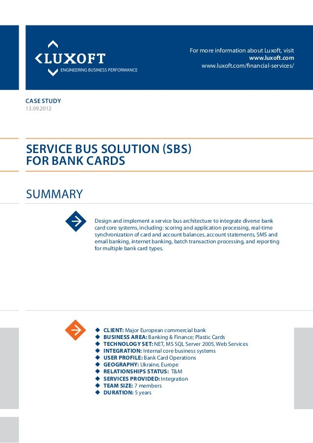 Case study service bus solution banking luxoft for european commercia for more information about luxoft visitluxoftluxoft business reheart Choice Image