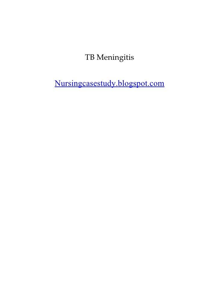 TB MeningitisNursingcasestudy.blogspot.com