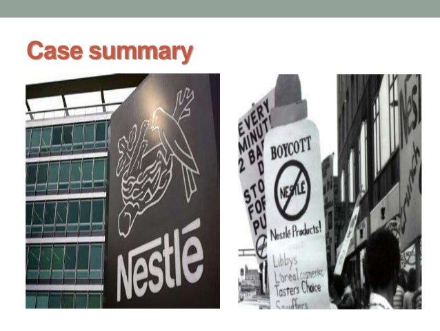 case 1 2 nestle infant formula Case 1 2 nestlé: the infant formula controversy nestlé alimentana of vevey, switzerland, one of the world's largest food-processing companies with worldwide sales of over $100 billion, has been the subject of an international boycott.