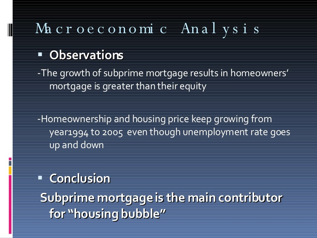 A brief overview of the subprime