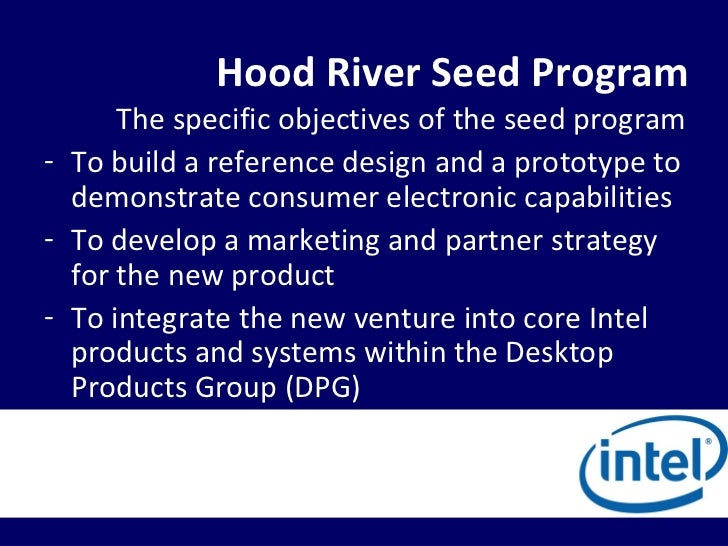 Ba401 Intel Corporation The Hood River Project