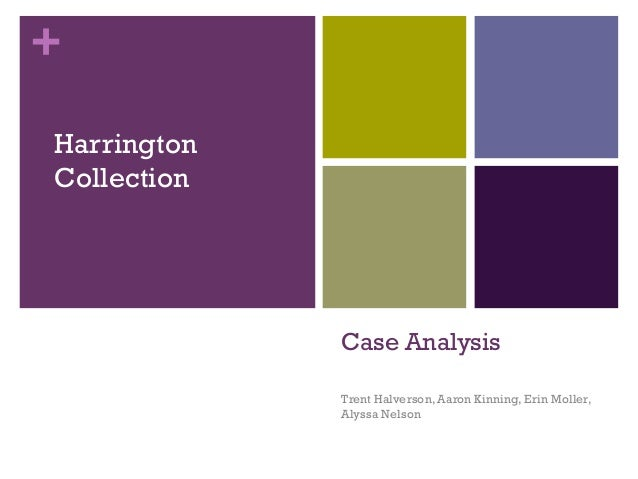 +HarringtonCollection             Case Analysis             Trent Halverson, Aaron Kinning, Erin Moller,             Alyss...