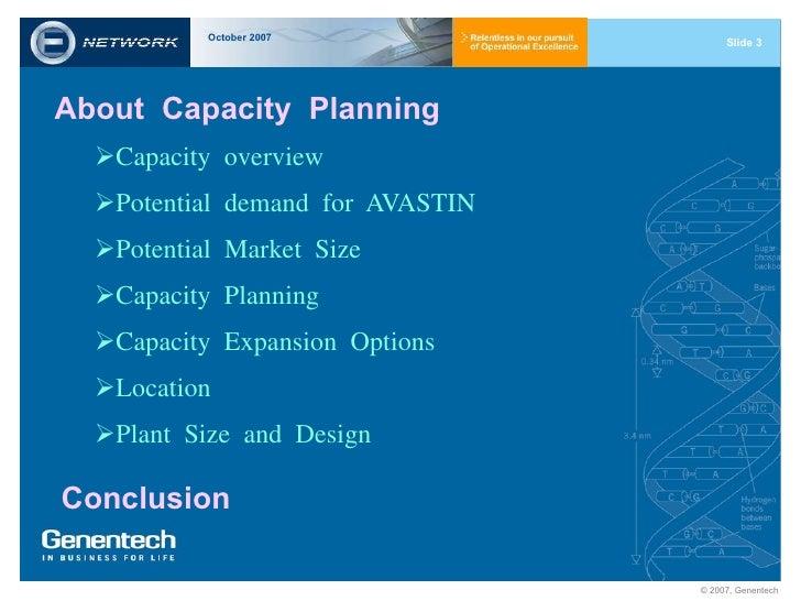 Genentech capacity planning case