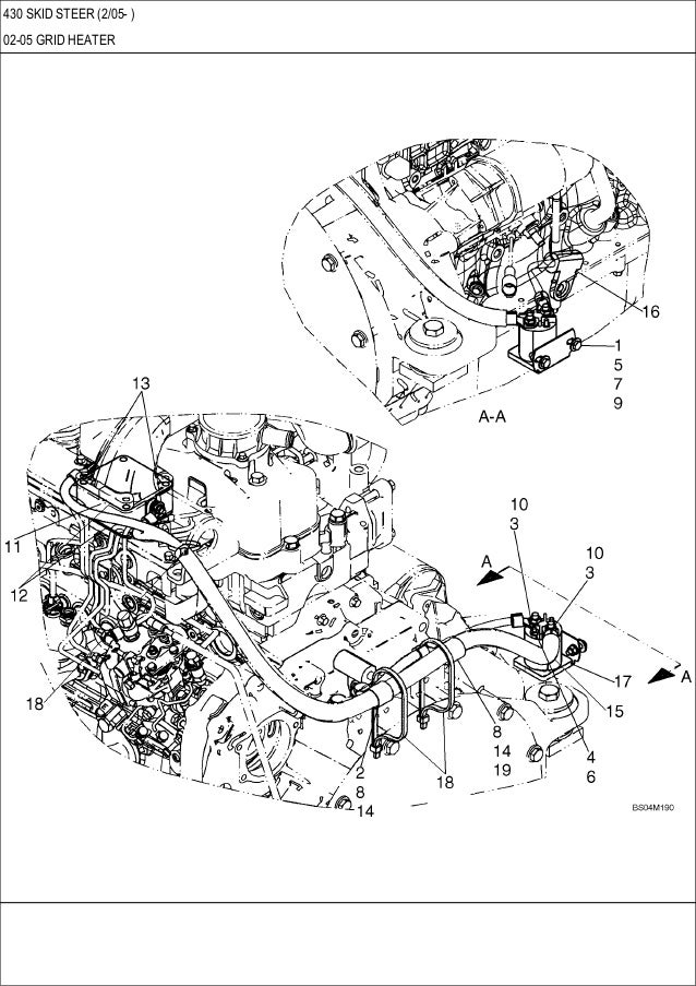 Case 430 skid steer loader service repair manual
