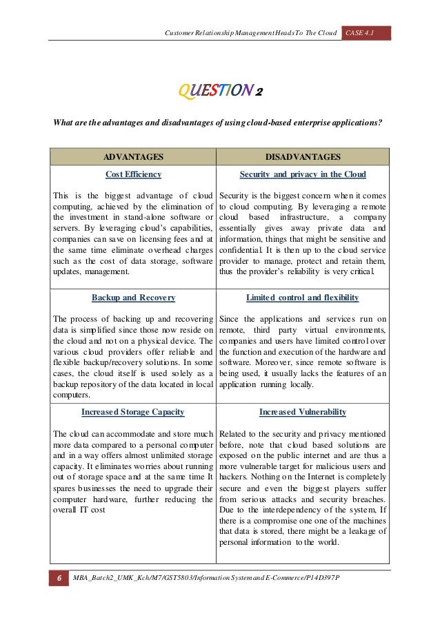 disadvantages of customer relationship management A review of customer relationship management system benefits and implementation in small and medium enterprises boon kiat loh, khai lun koo, kee fai ho, rosnah idrus.