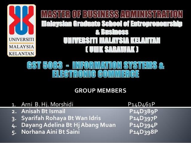 GROUP MEMBERS 1. Arni B. Hj. Morshidi P14D461P 2. Anisah Bt Ismail P14D389P 3. Syarifah Rohaya Bt Wan Idris P14D397P 4. Da...