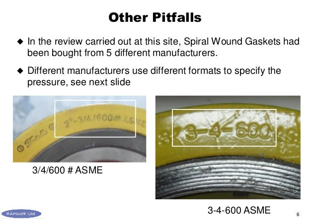Ramsoft - Case 4 Spiral Wound Gaskets