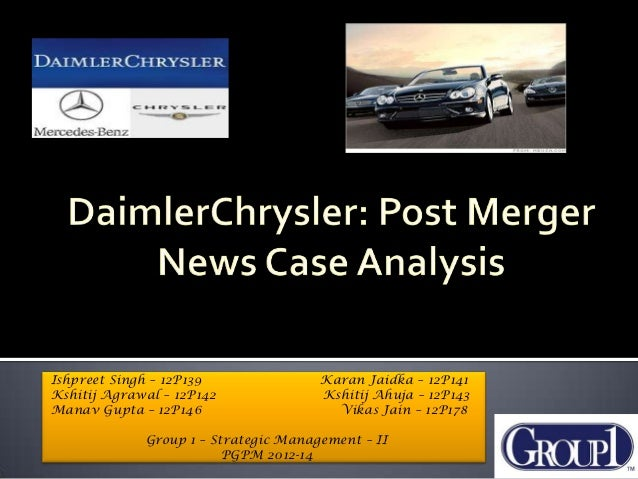 daimlerchrysler case analysis final Daimler chrysler bank is recognized as one of the leading vehicle financing institutions in germany the bank provides  analysis in our development and test .