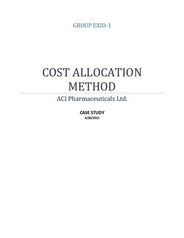 cost allocation method Different cost allocation methods can involve basing the allocation on time, physical measures such as staffing costs, or on output generally the methods should be rational, reasonable and capable of clear explanation.