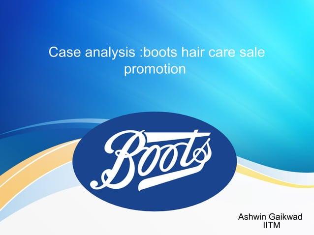 Case analysis :boots hair care sale promotion Ashwin Gaikwad IITM