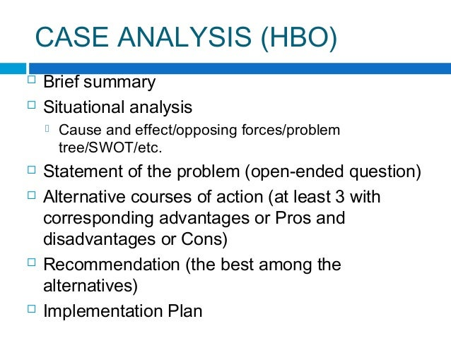 Case Analysis Format