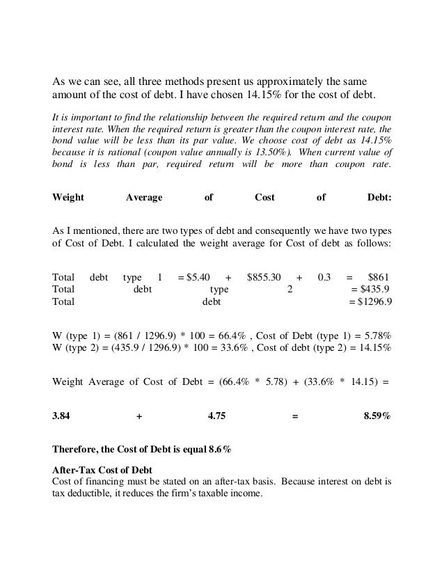 how to calculate wacc from financial statements pdf