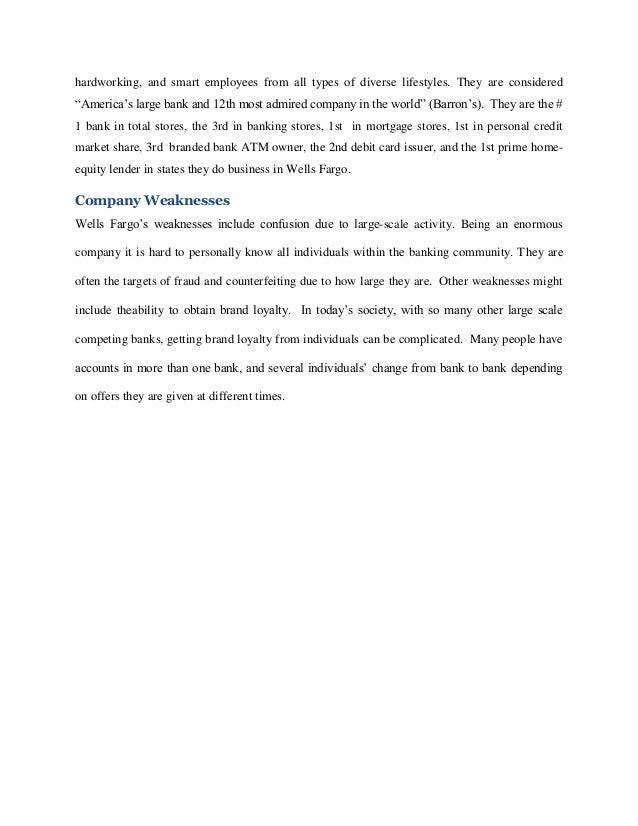 Case analysis of wells fargo corporation