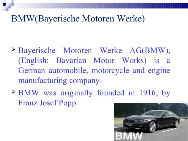 case analysis bmw Selecting r&d projects at bmw: a case study of adopting mathematical programming models abstract: research and development (r&d) project selection is a critical interface between the product development strategy of an organization and the process of managing projects day-to-day this article describes the project.