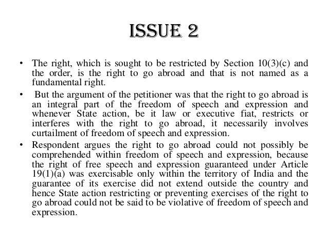 Supreme Court AOR Examination – Leading Cases – Maneka Gandhi v. Union of India, (1978) 1 SCC 248