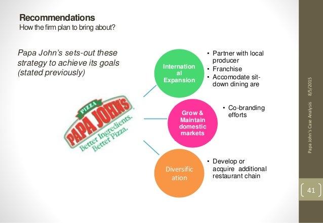 papa john s marketing strategy A detailed brand analysis of papa john's international, inc includes its 4 p's of marketing of the company's business,  strategy, marketing,.