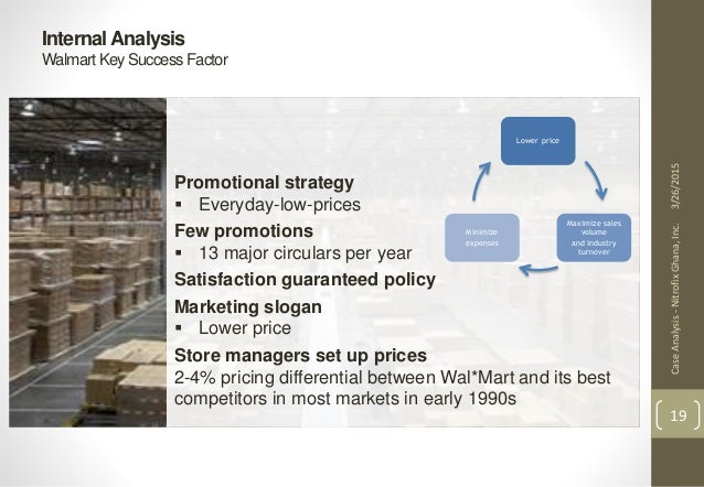 wal mart key success factor walmart Walmart's success stems from low costs, which are possible through  (for  related reading, see: how wal-mart makes its money)  on another key  cornerstone on which so much of walmart's advantage is built: scale/volume.