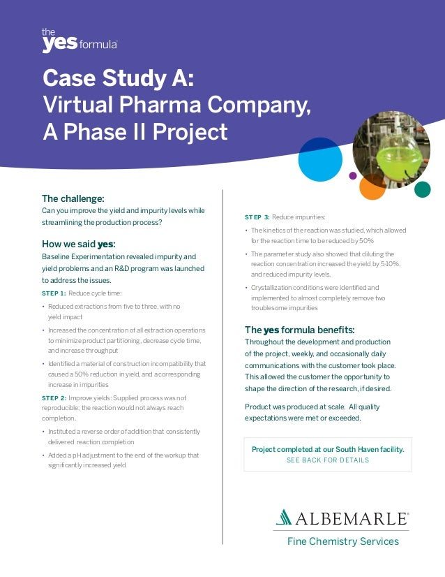 pharma plus case study Plus links to online copies of actual option and evaluation  case study 3: idenix  341a case study 9: viropharma– meritage pharma 341b case study.
