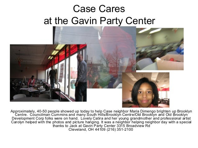 Case Cares at the Gavin Party Center 9:30 a.m. Meet up location Approximately, 40-50 people showed up today to help Case n...