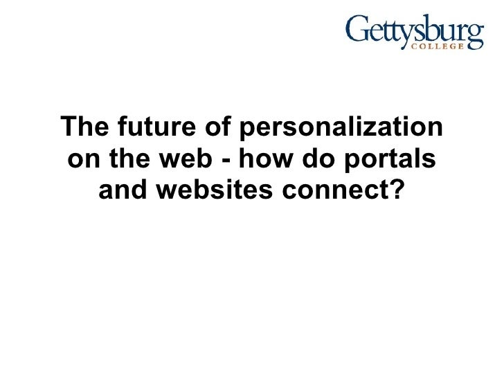 The future of personalization on the web - how do portals and websites connect?