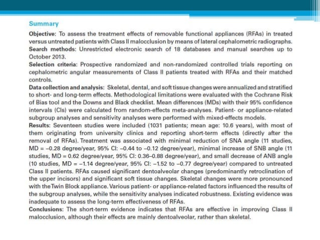 Conclusions • Phase I treatment is more rapid with the Herbst appliance, but overall duration of treatment is similar to t...