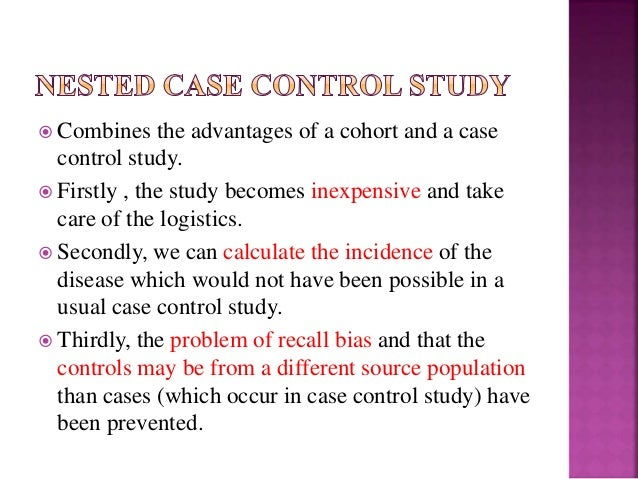 cohort study with nested case-control analysis Cohort study case control study a cohort study was designed to assess the impact of sun exposure on the analysis showed a.