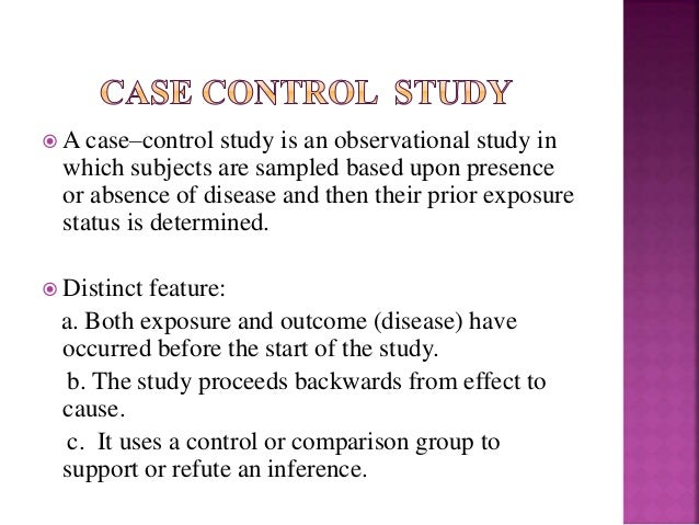 nested case control study vs. case cohort Case control versus retrospective cohort usmle step 1 forum although nested case control studies are prospective in nature and are note that passwords are.